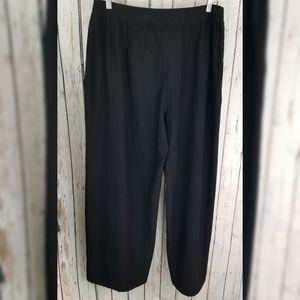 Eileen Fisher Plus Black Crepe Straight Pants
